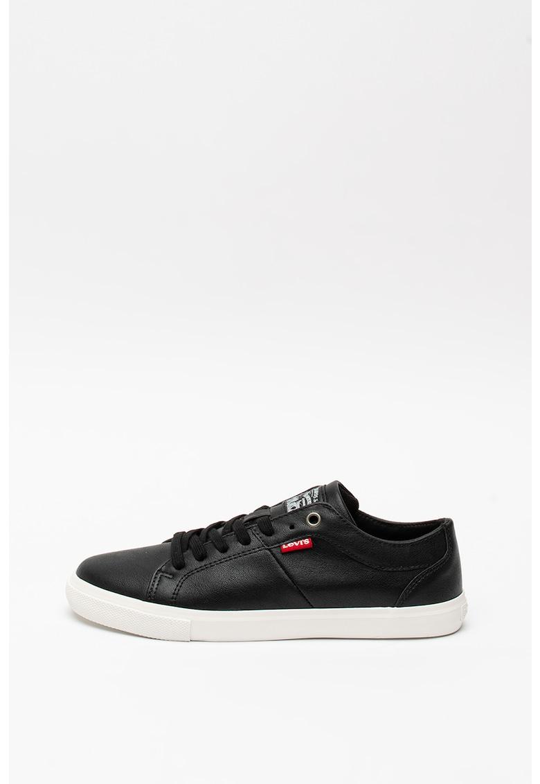 Pantofi sport din piele ecologica cu logo Woods 1