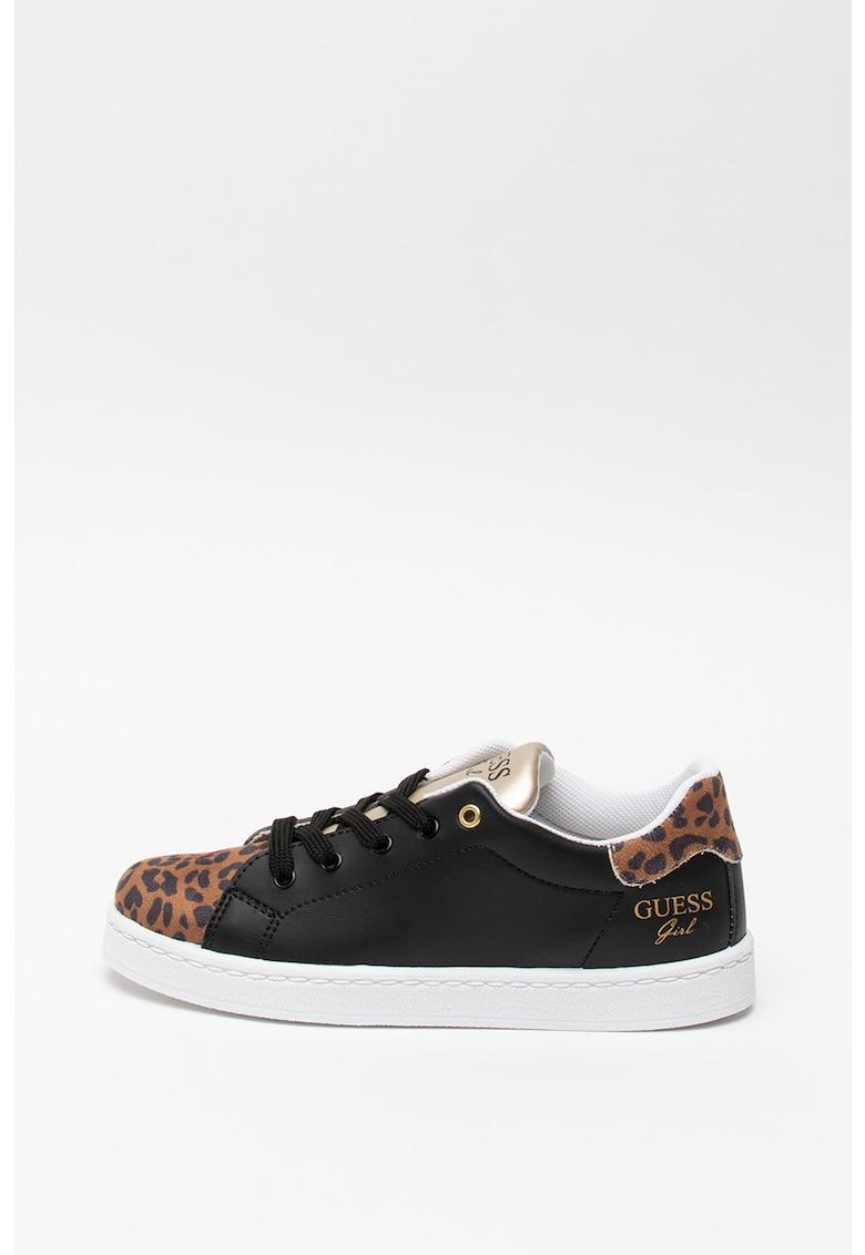 Pantofi sport de piele ecologica - cu animal print Lucele