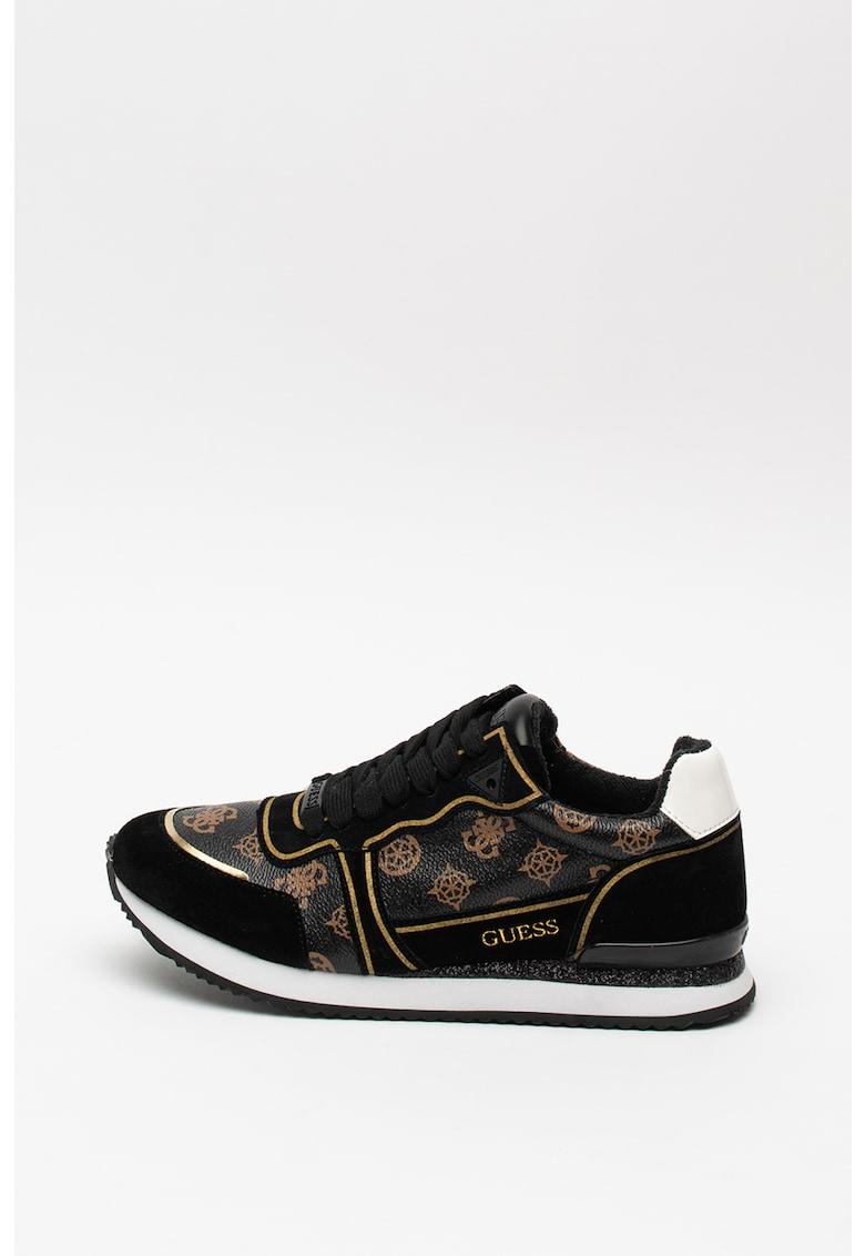 Pantofi sport de piele ecologica - cu strasuri 2