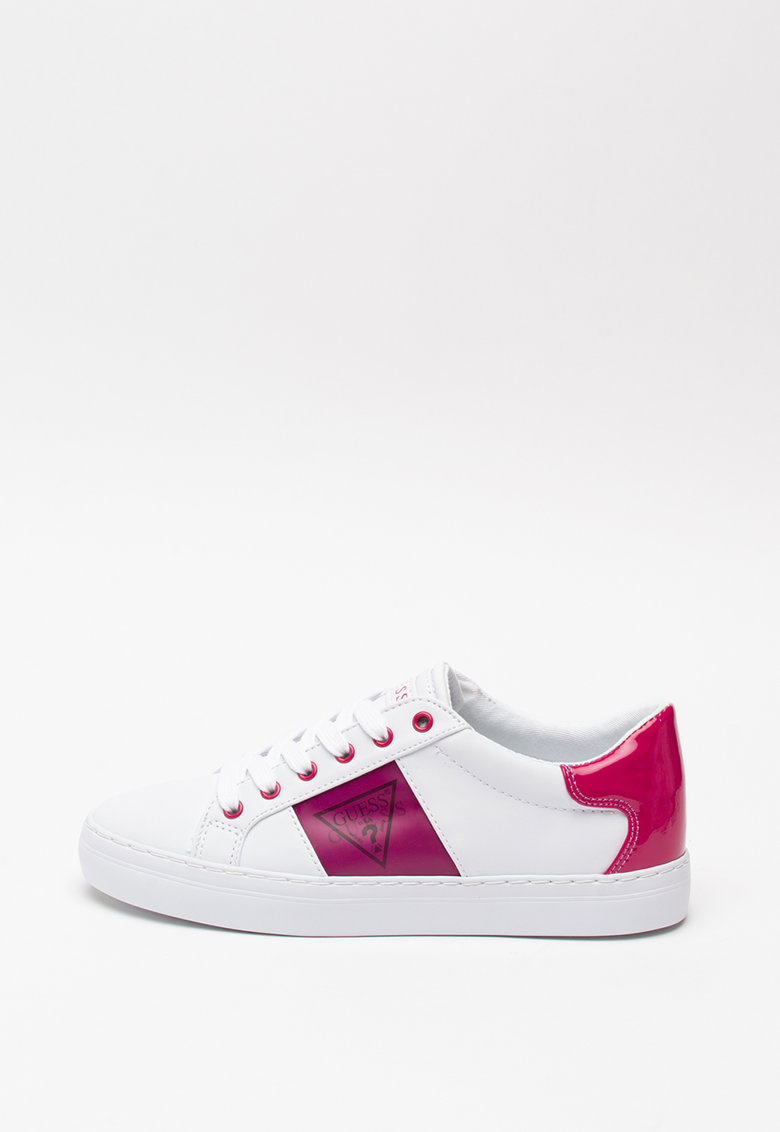 Pantofi sport de piele ecologica - cu model monograma 3