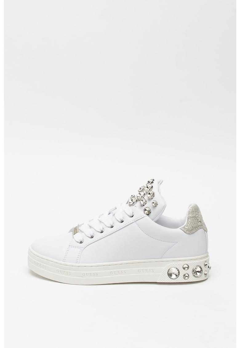Pantofi sport de piele ecologica - cu strasuri 1
