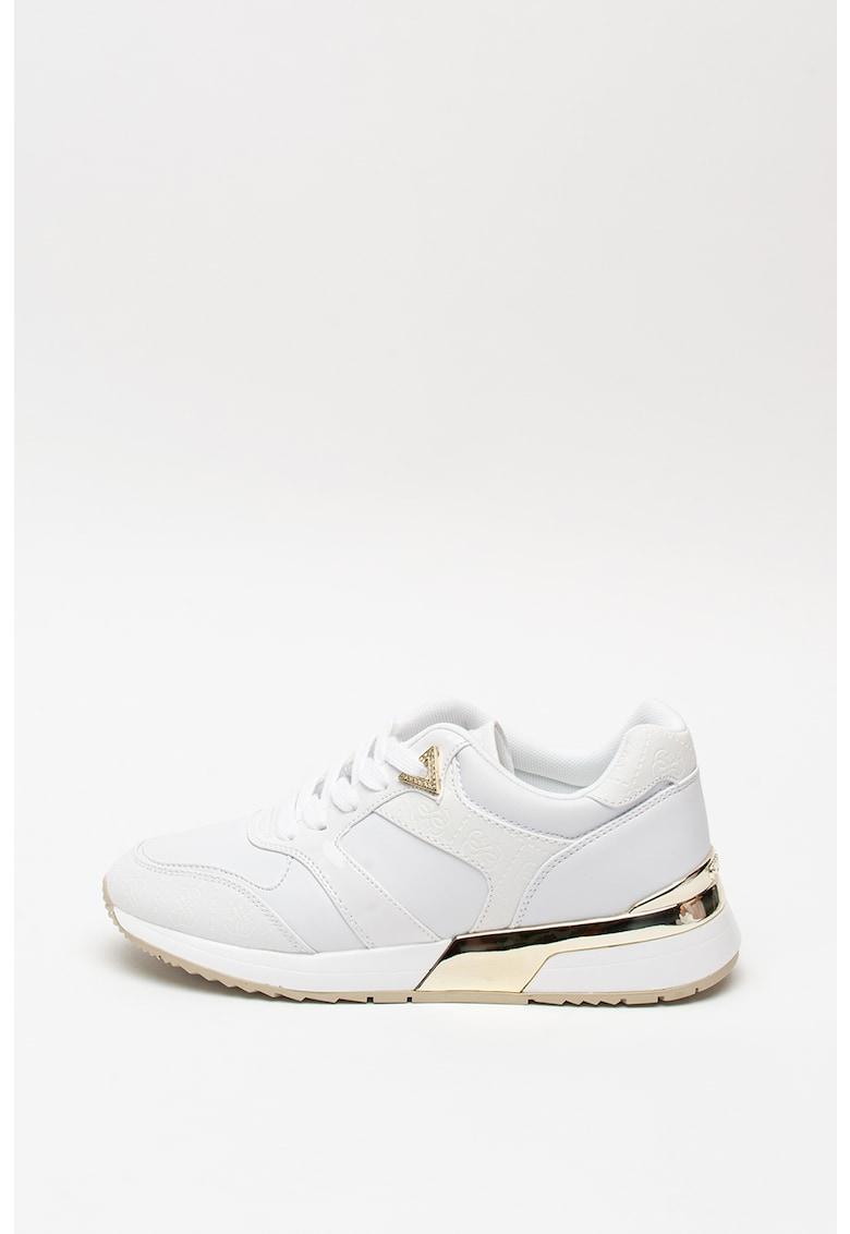 Pantofi sport de piele ecologica - cu model monograma 1