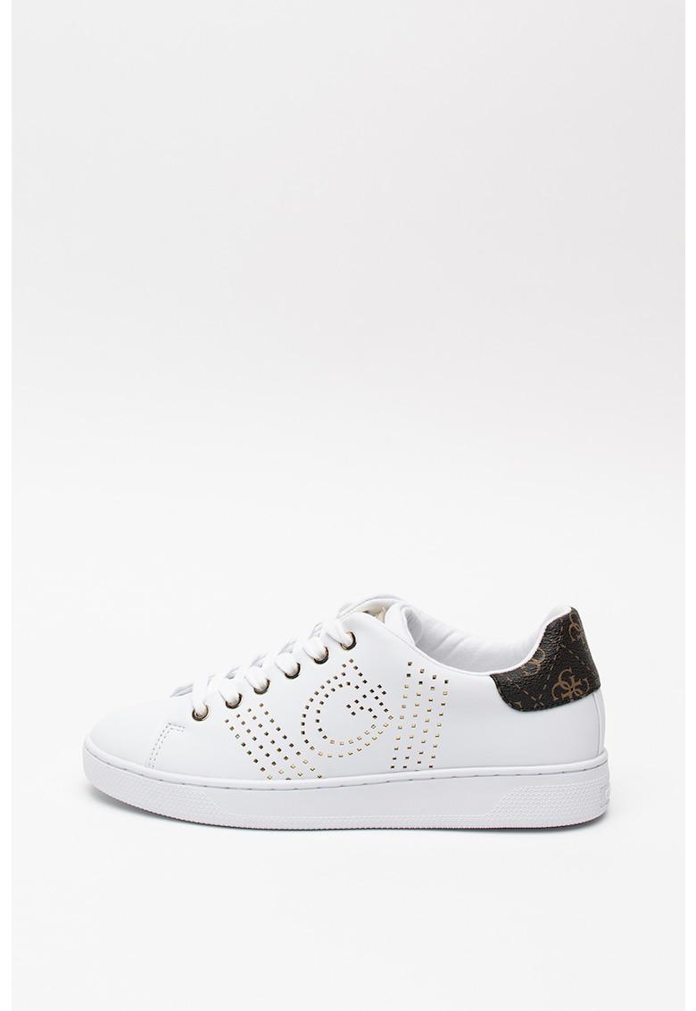 Pantofi sport de piele ecologica - cu nituri 3