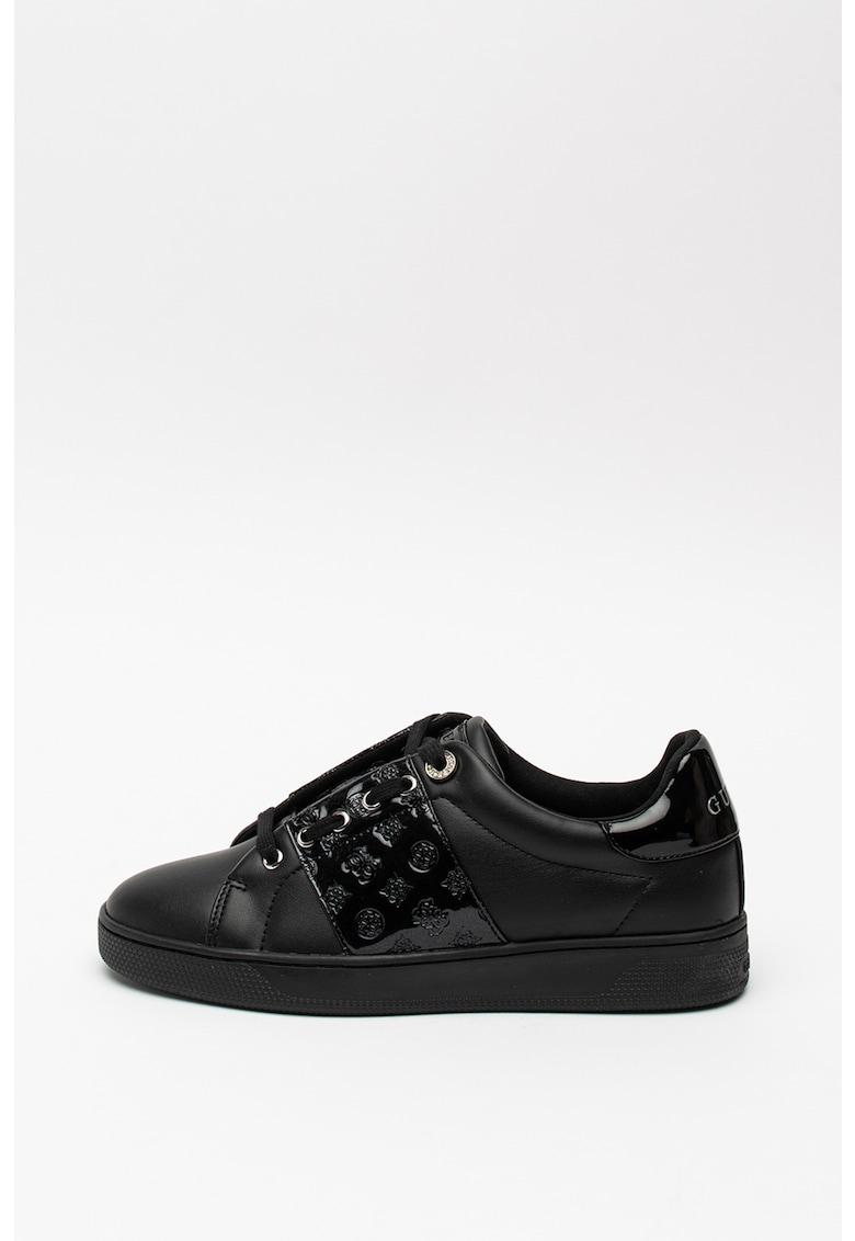 Pantofi sport de piele intoarsa cu garnituri metalizate 373 2
