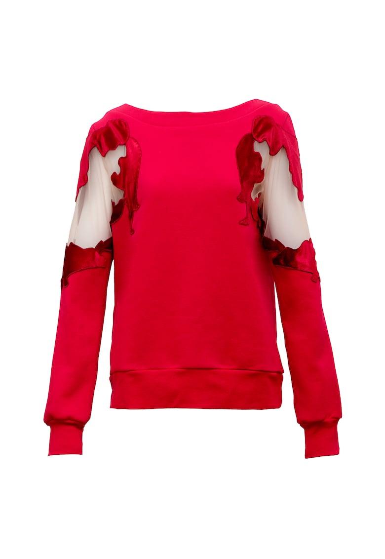 Bluza sport cu decupaje din plasa Artist imagine