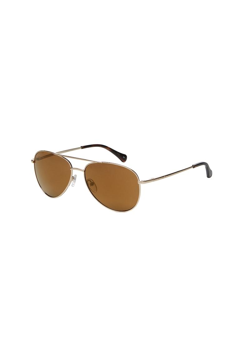 Ochelari de soare aviator cu rama metalica imagine fashiondays.ro Ted Baker