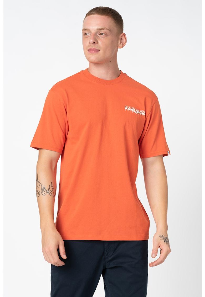 Tricou de bumbac cu detaliu logo Sole imagine fashiondays.ro
