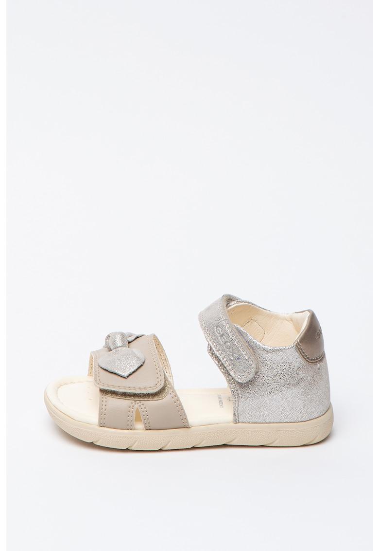 Sandale cu insertii din piele - cu velcro Alul