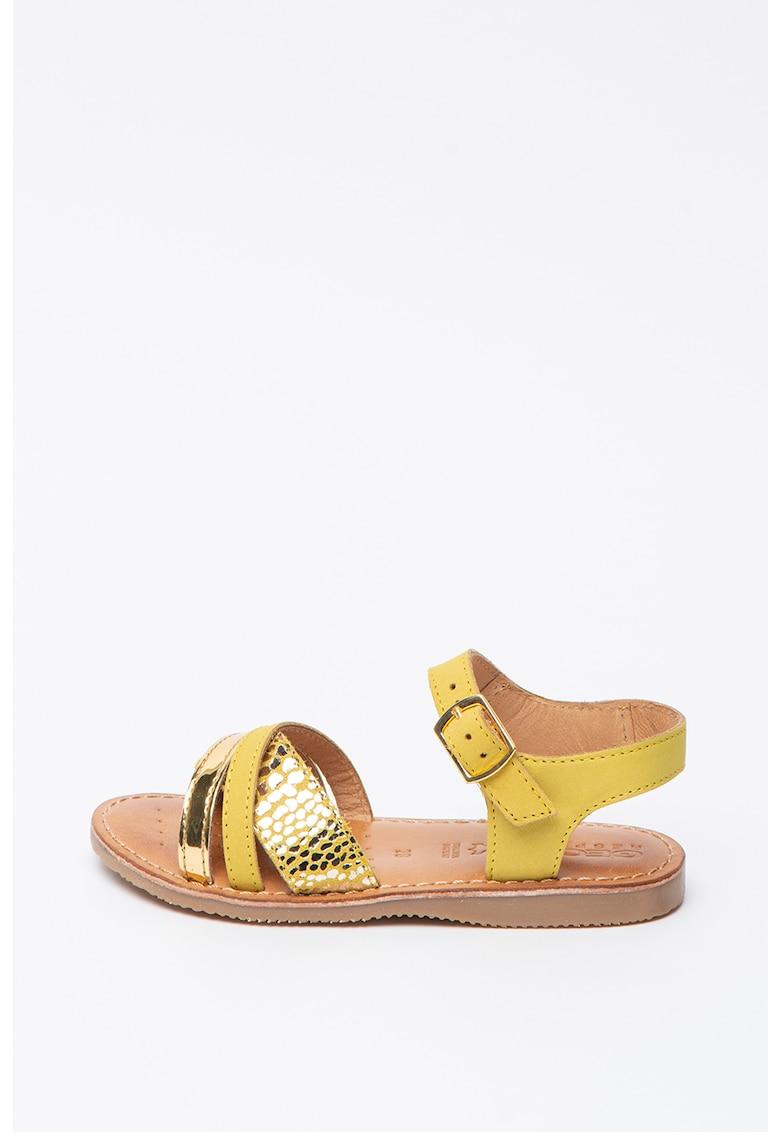 Sandale de piele cu detalii metalizate Eolie imagine