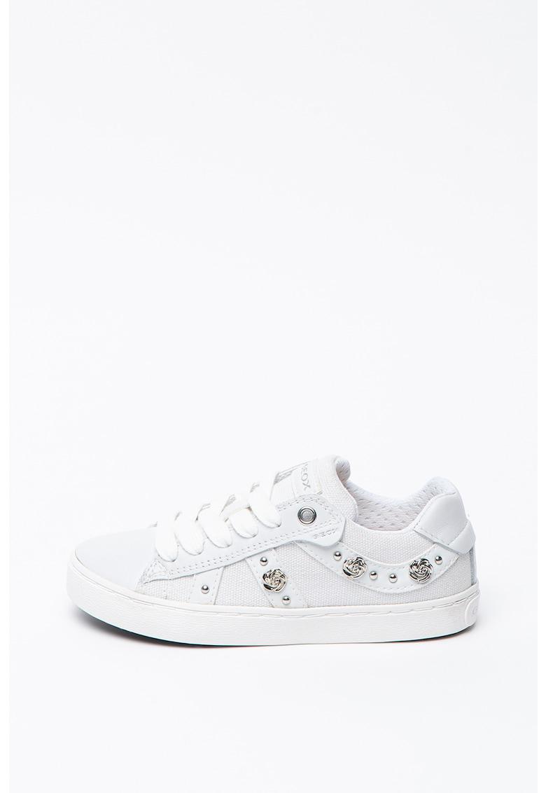 Pantofi sport din piele si panza cu aplicatii metalice Kilwi