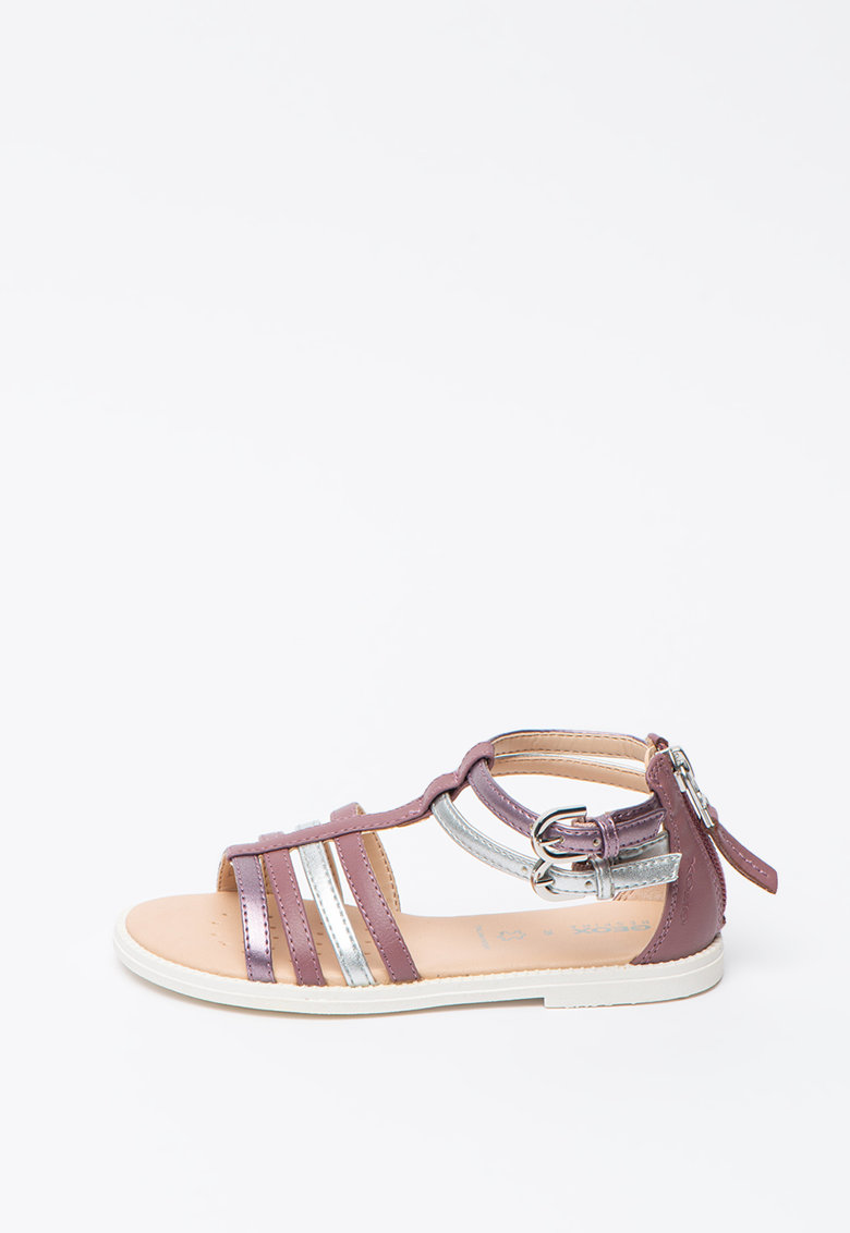 Sandale de piele ecologica cu bareta T Karly poza fashiondays