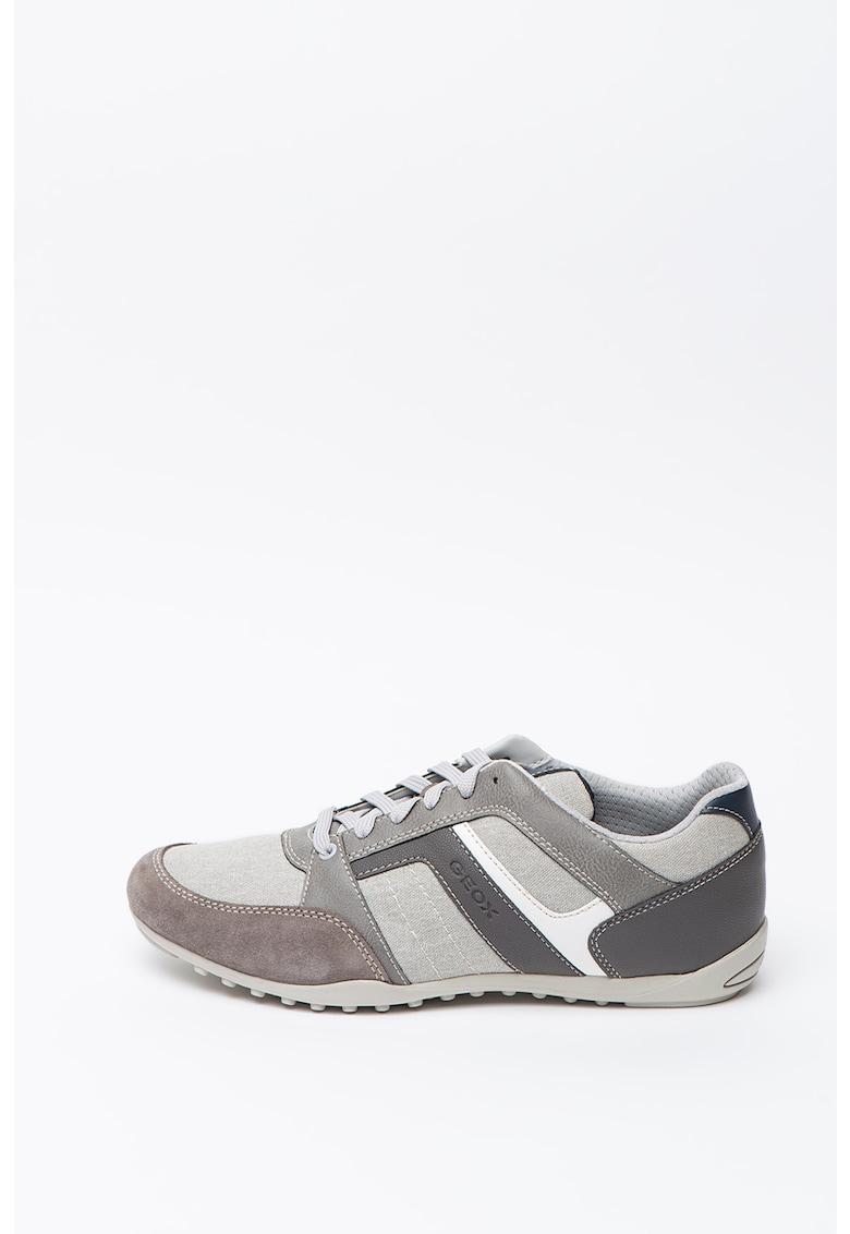 Pantofi sport din piele intoarsa cu insertii din plasa Sestiere 2