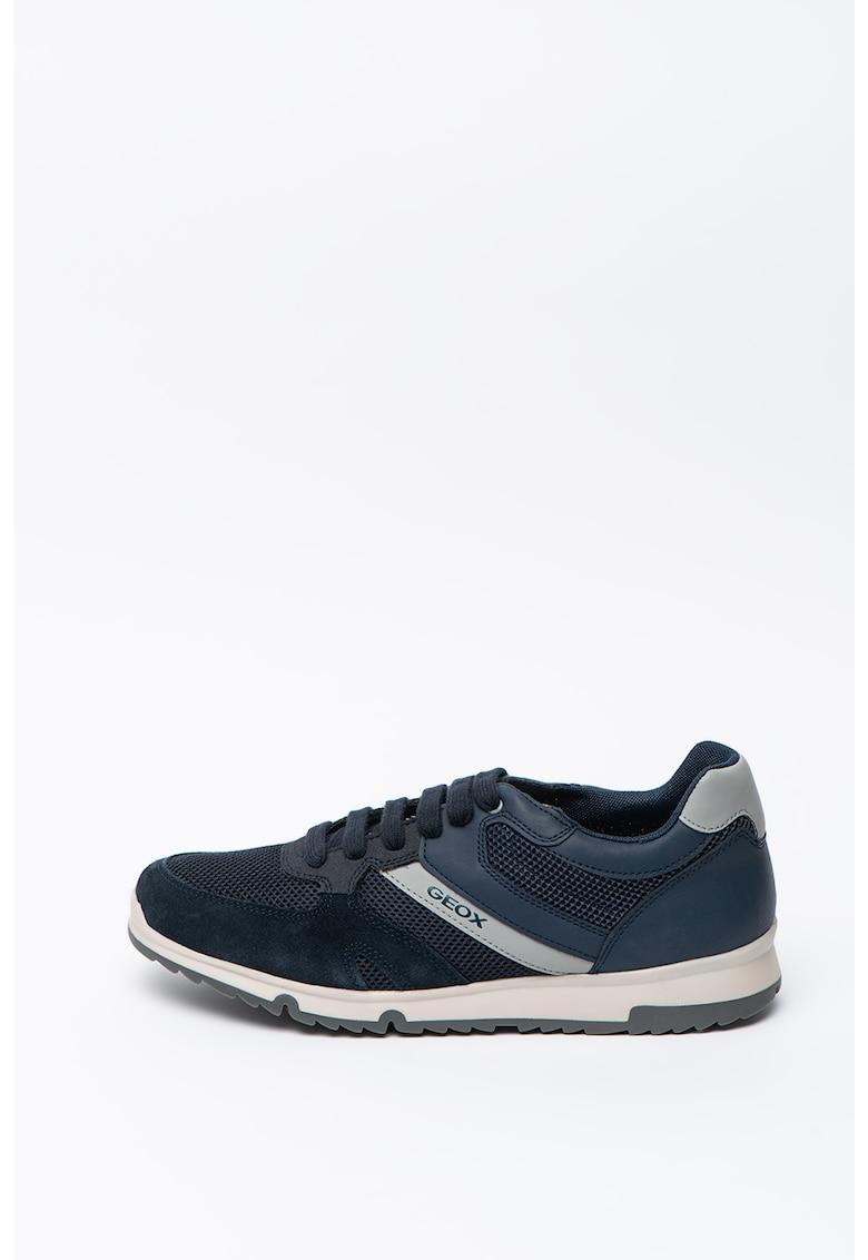 Pantofi sport din piele si material textil Wilmer 1