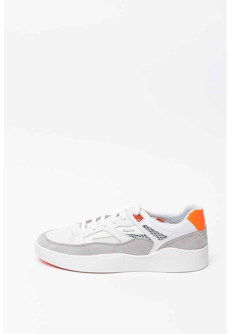 Pantofi sport din piele si material textil Wilmer 3