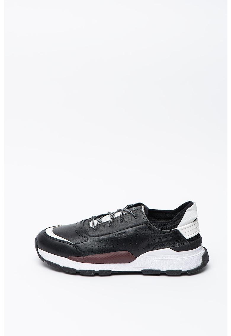 Pantofi sport din piele si material textil Regale 1