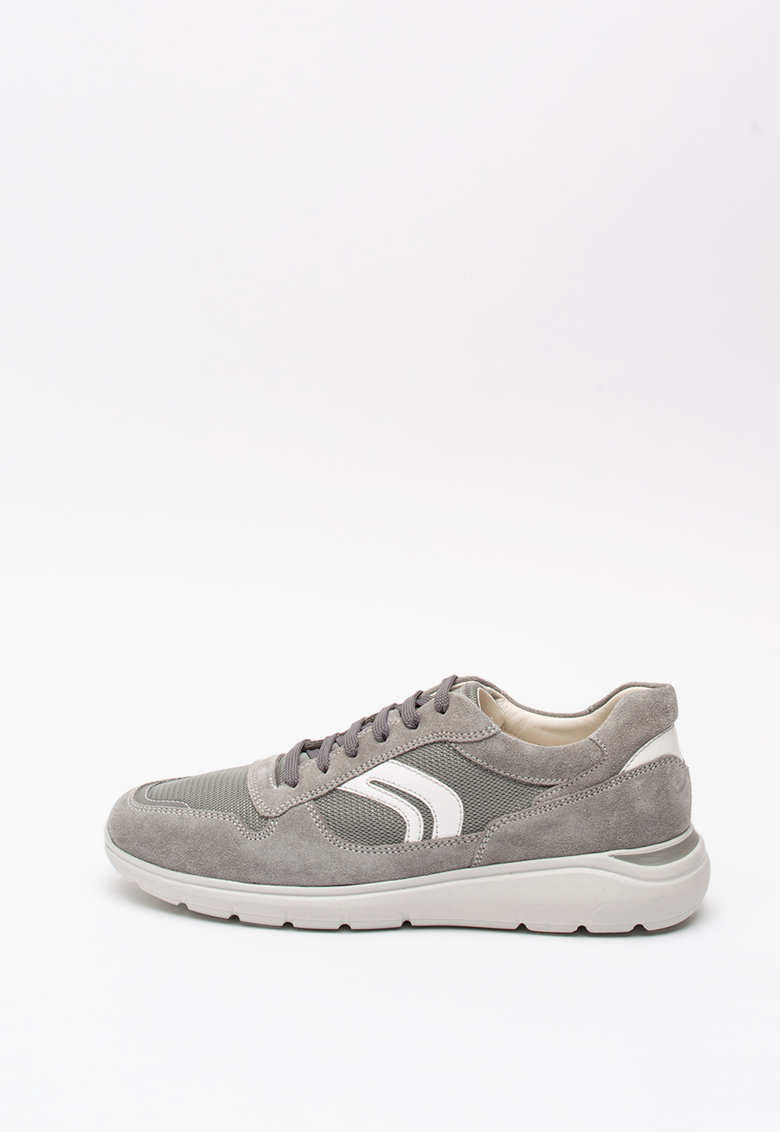 Pantofi sport din piele intoarsa cu insertii din plasa Sestiere 1