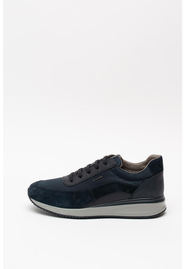 Pantofi sport din piele intoarsa cu insertii din plasa Sestiere 3