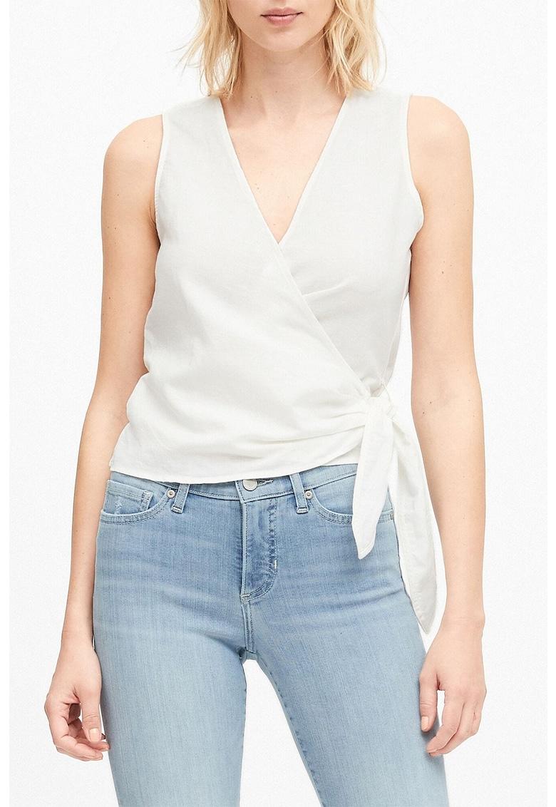 Bluza cu decolteu in V si maneci cu volane imagine fashiondays.ro Banana Republic