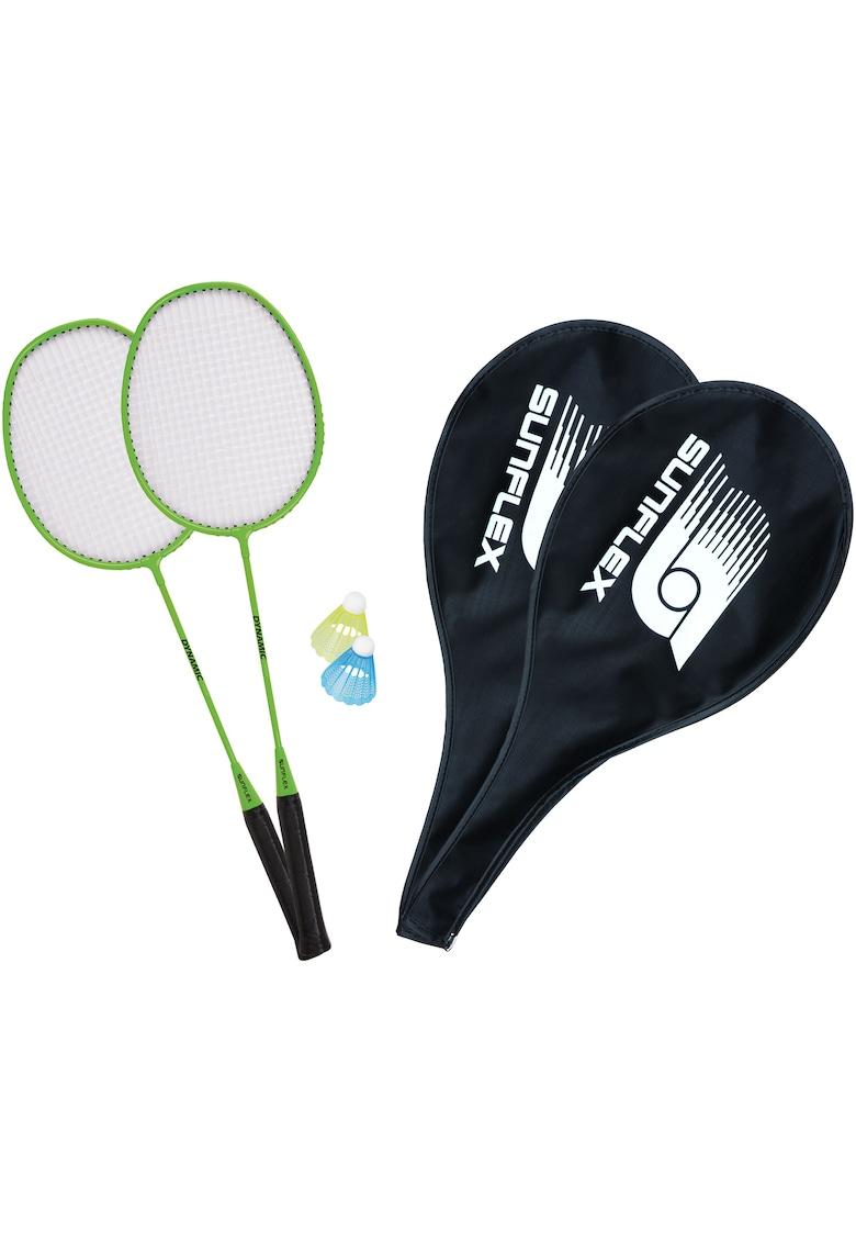 Set badminton Dynamic - 2 palete+2 huse+2 fluturasi