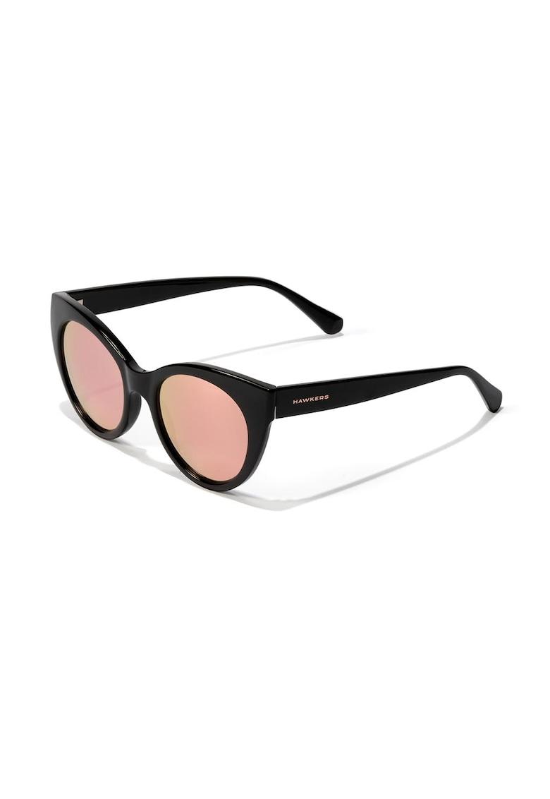 Ochelari de soare cat-eye cu lentile oglinda Divine imagine fashiondays.ro Hawkers
