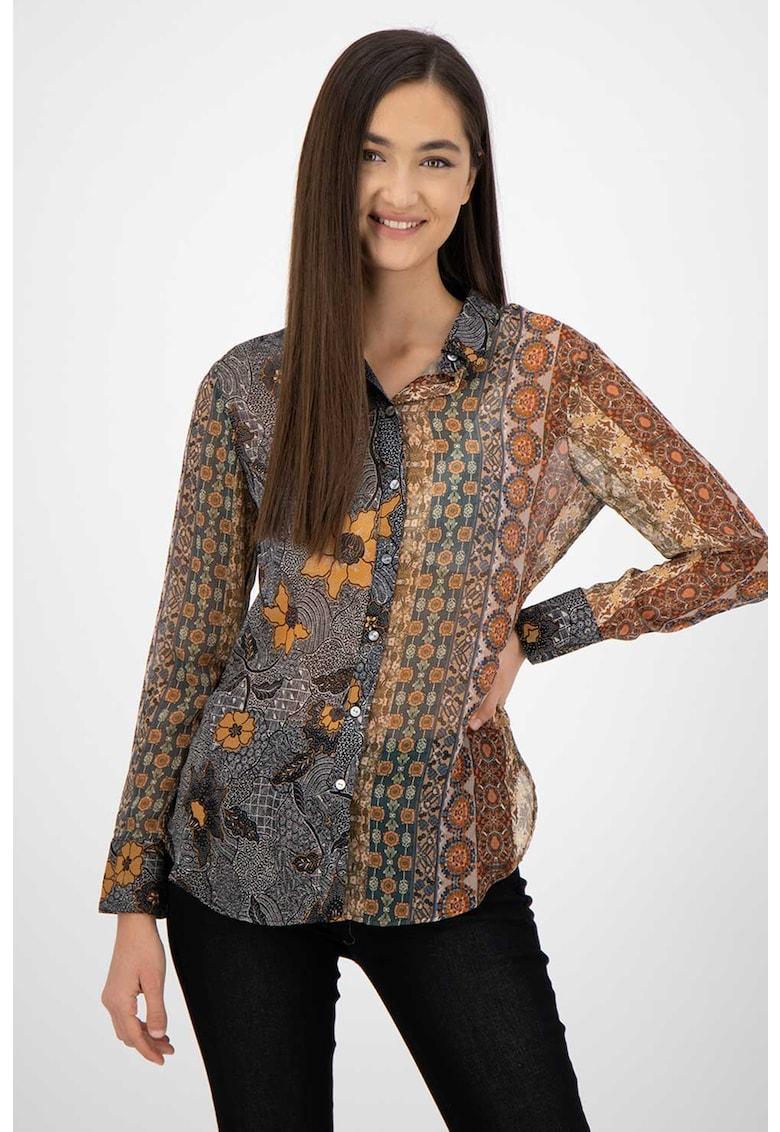 DESIGUAL Camasa cu model floral si abstract Boho
