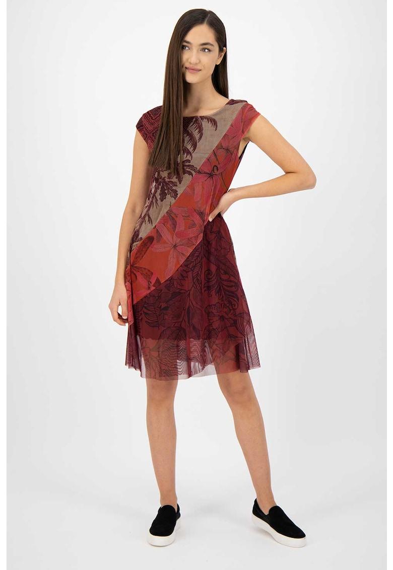 Rochie mini cu diverse imprimeuri poza fashiondays