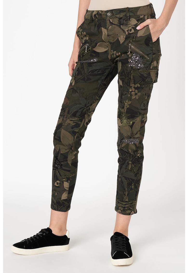 Pantaloni cargo din amestec de modal