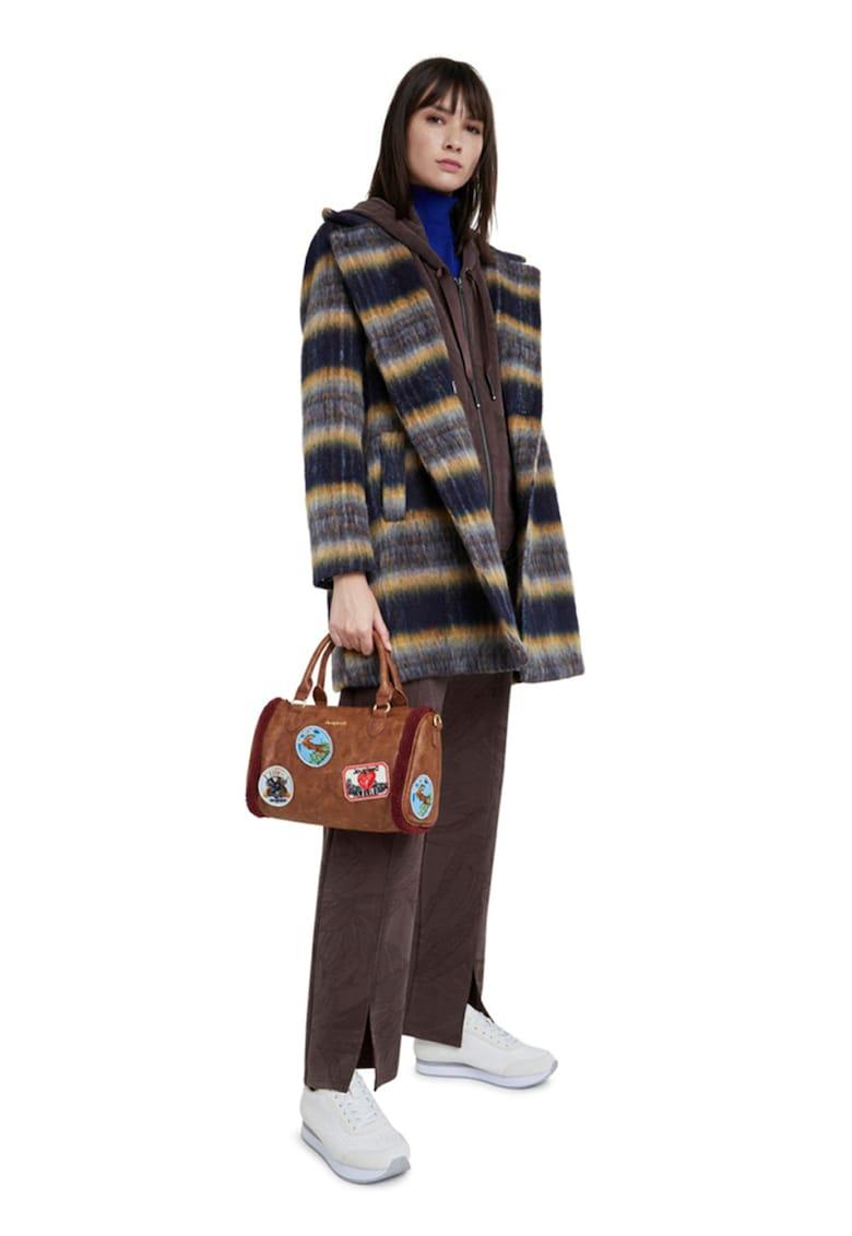 DESIGUAL Palton din amestec de lana cu revere supradimensionate