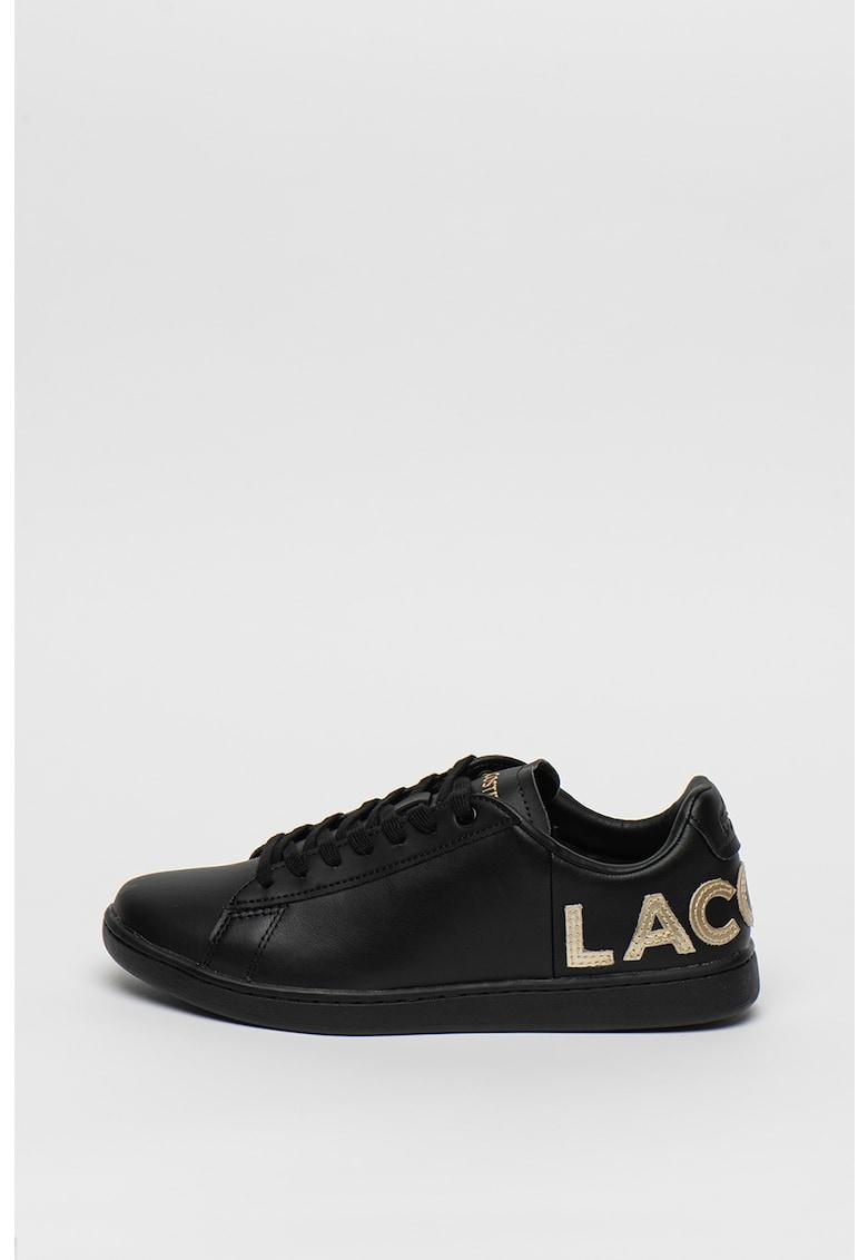 Pantofi sport din piele si piele ecologica cu aplicatie logo Carnaby 1