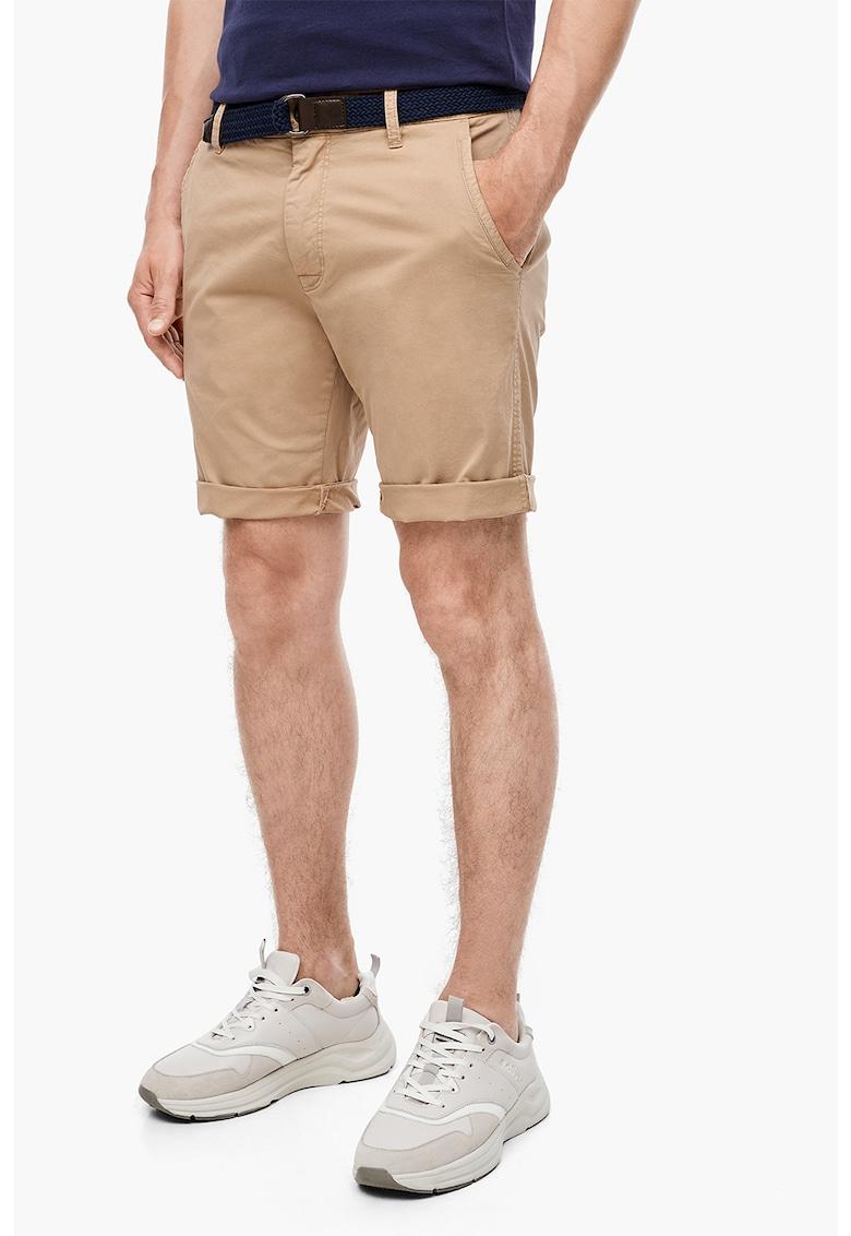 Pantaloni scurti chino - cu o curea cu inel D