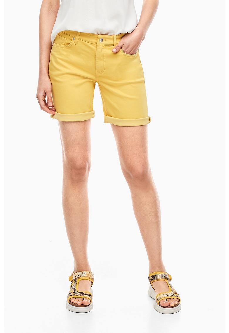 sOliver pantaloni scurti cu terminatii rasucite