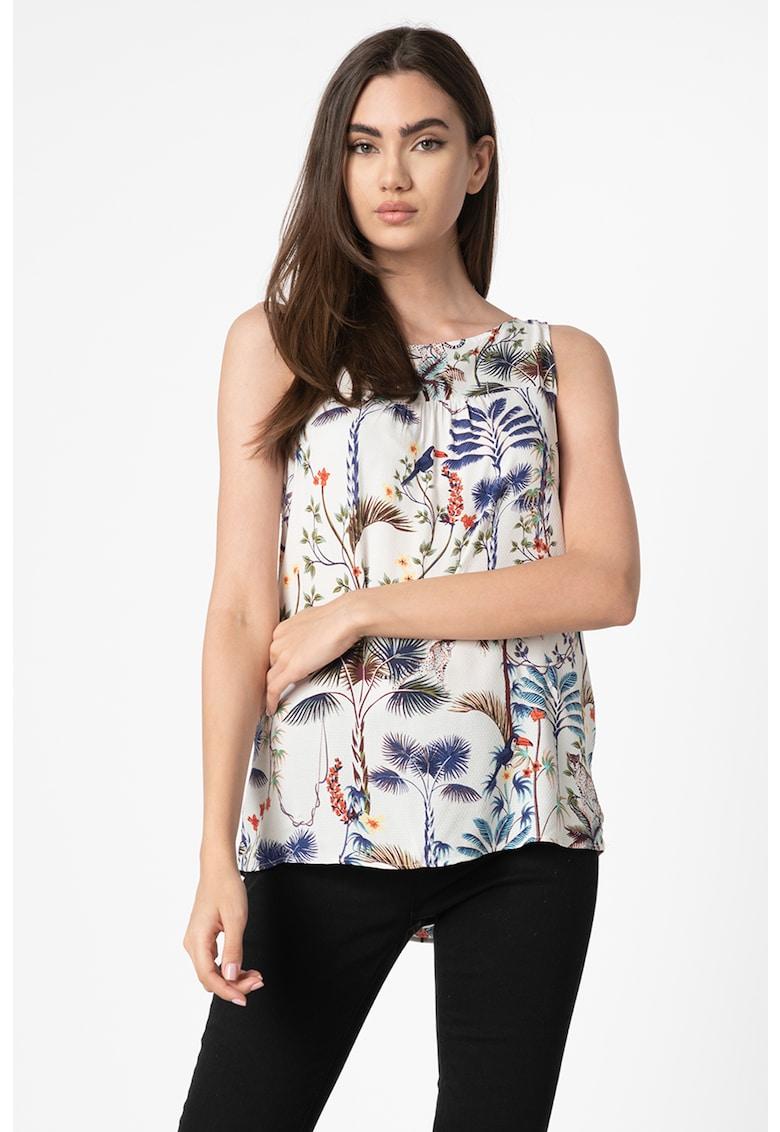 Bluza fara maneci - cu imprimeu floral s.Oliver fashiondays.ro
