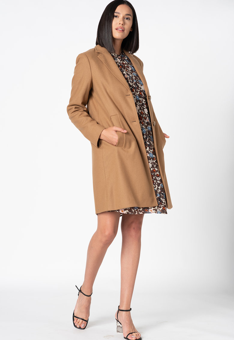 Palton din amestec de lana virgina