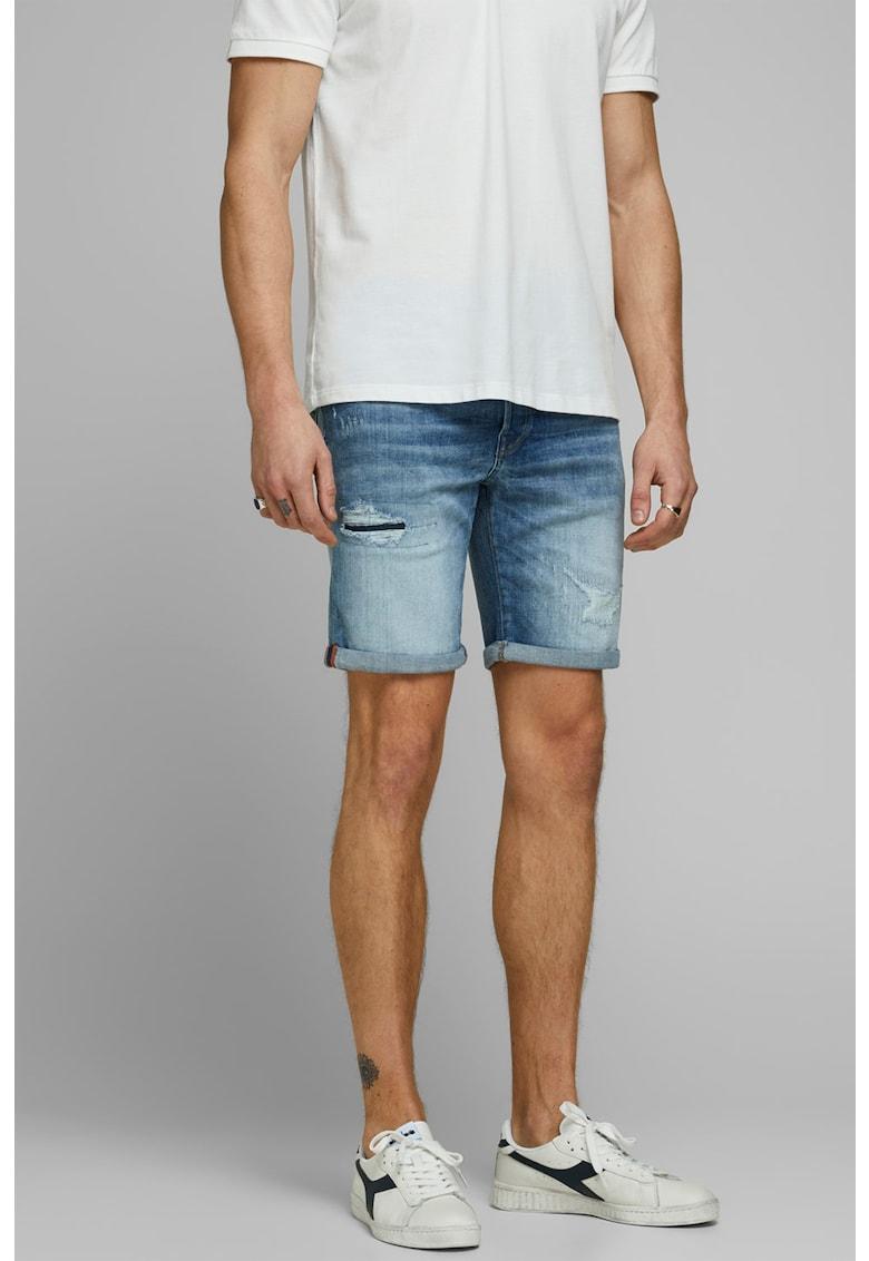 Pantaloni scurti din denim - cu aspect deteriorat