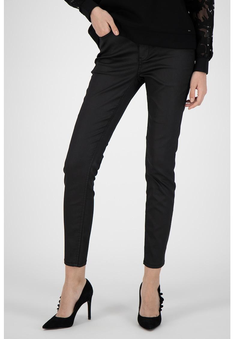 Pantaloni skinny de piele ecologica Lethera