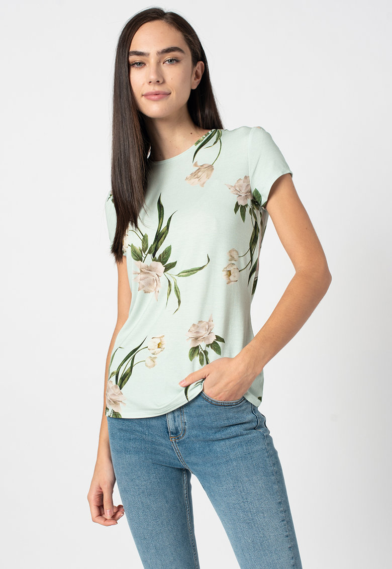 Tricou cu model floral Oliee