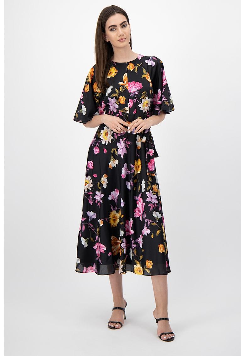 Rochie cu imprimeu floral si maneci clopot Ossiee Ted-Baker