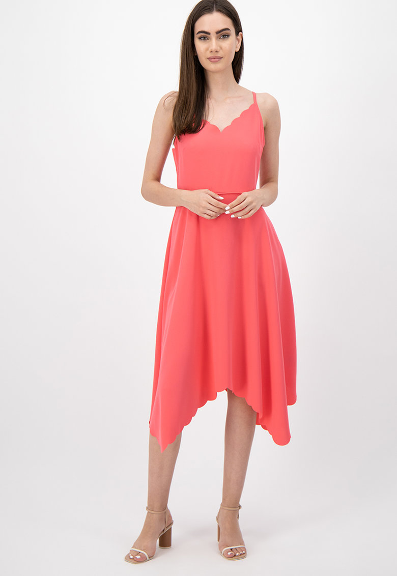 Rochie asimetrica cu decolteu in V Simbah imagine fashiondays.ro Ted Baker