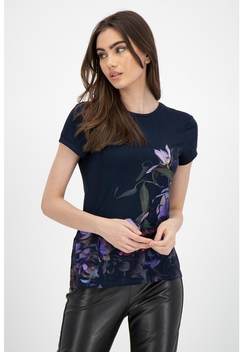 Tricou cu imprimeu floral Aidie imagine promotie