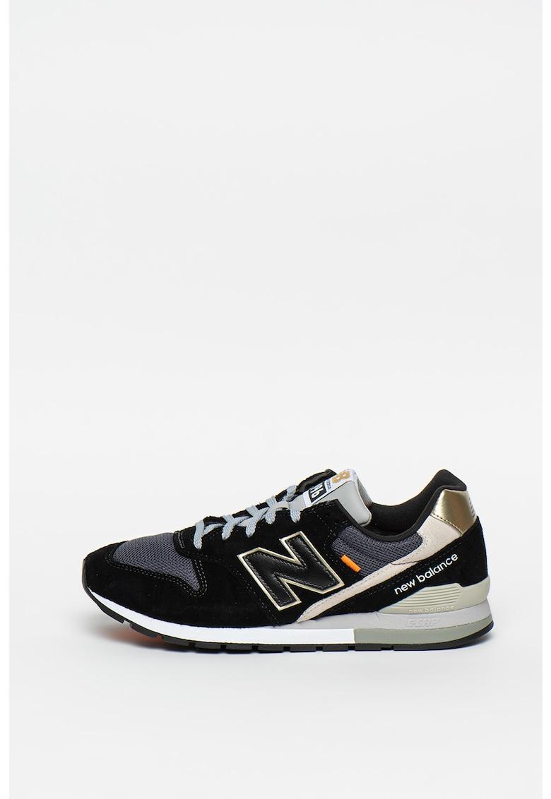 Pantofi sport de piele intoarsa cu garnituri de plasa 996 imagine