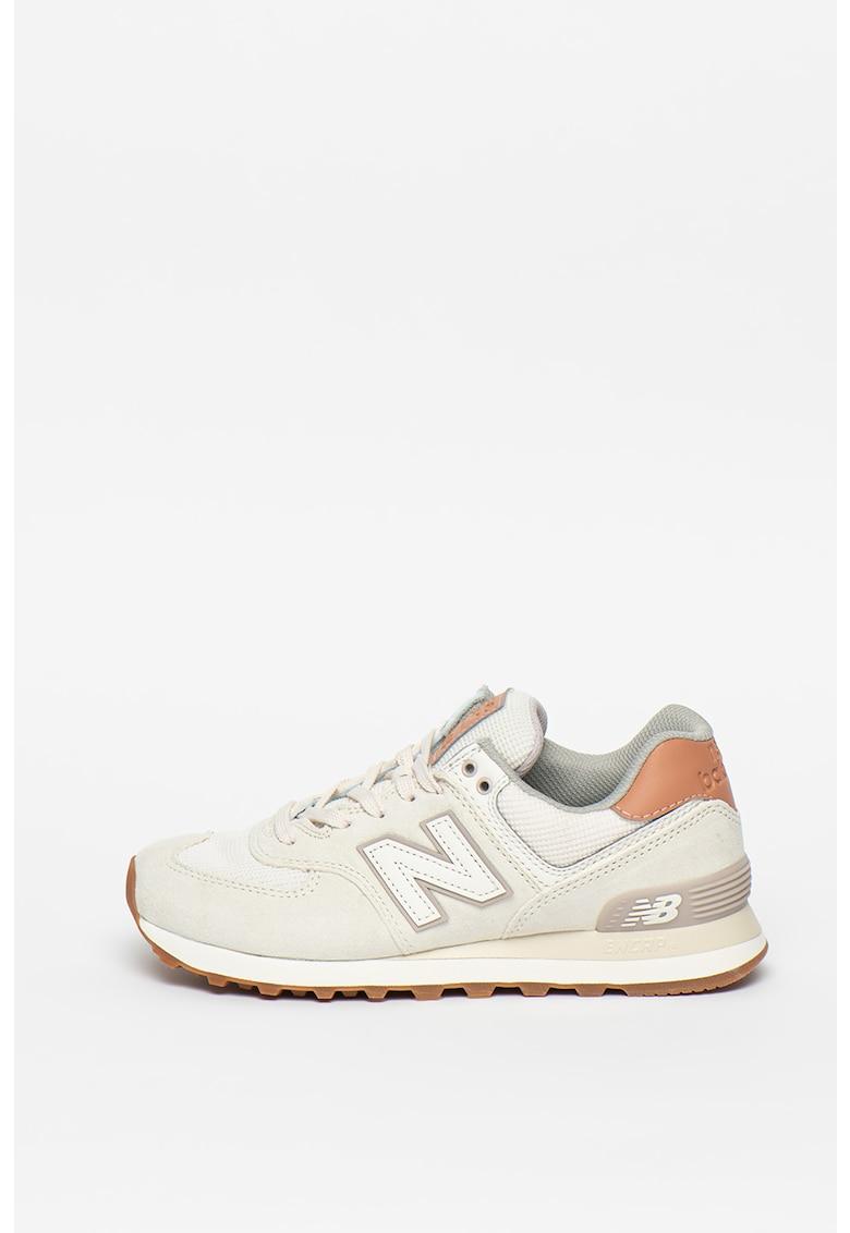 Pantofi sport de piele intoarsa cu logo 574