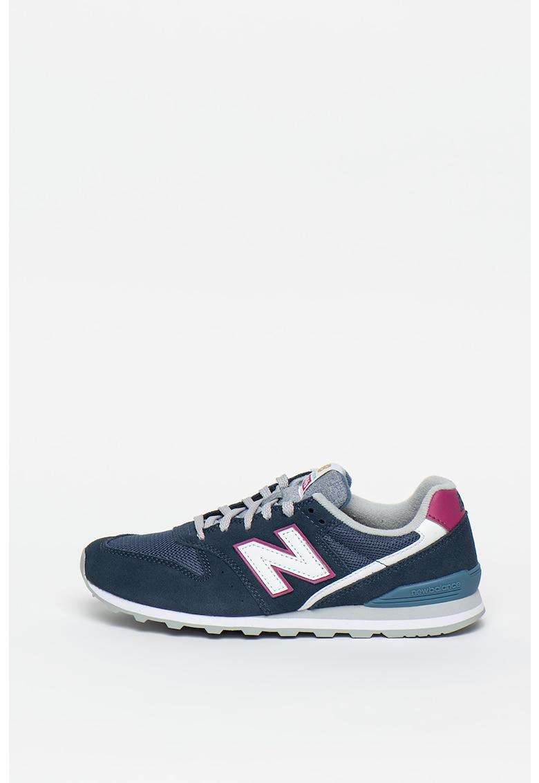 Pantofi sport de piele intoarsa cu garnituri metalizate 373 3