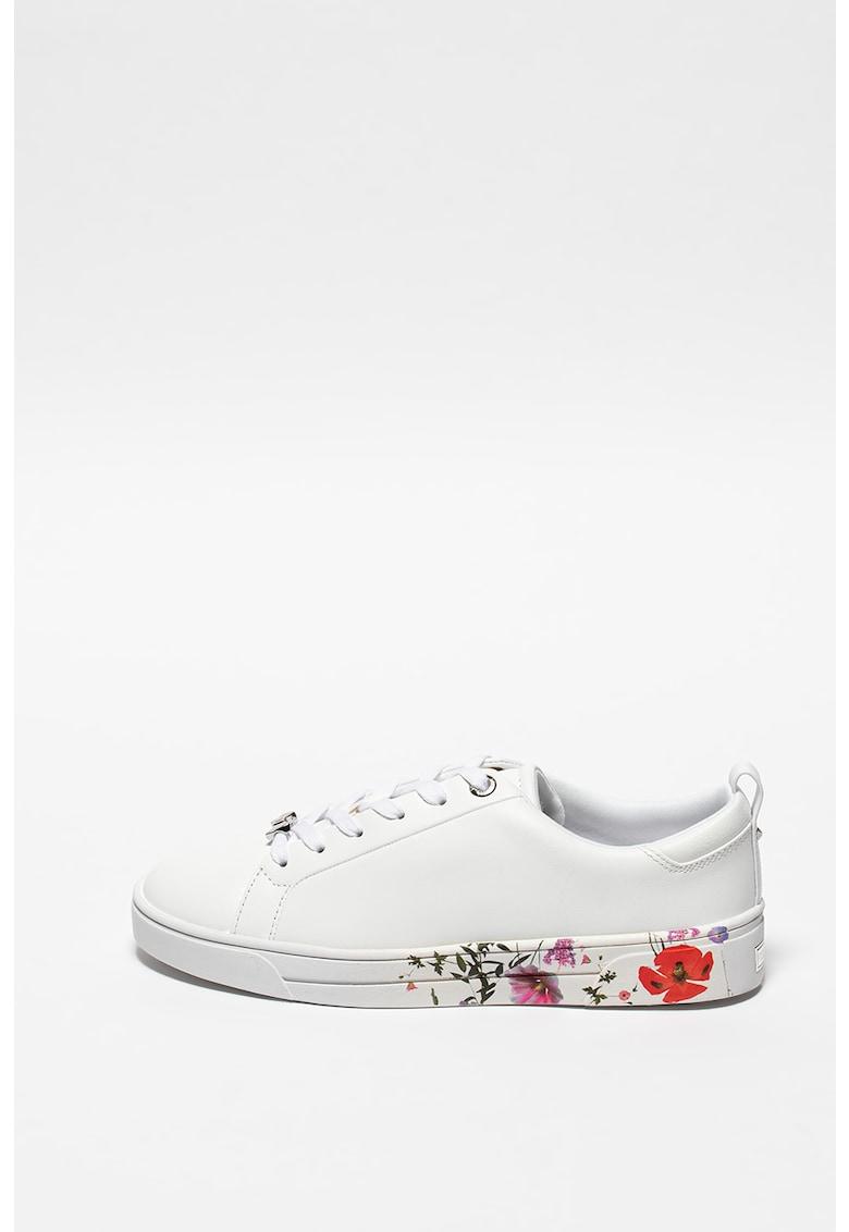 Pantofi sport de piele cu detalii florale Roullyp imagine promotie