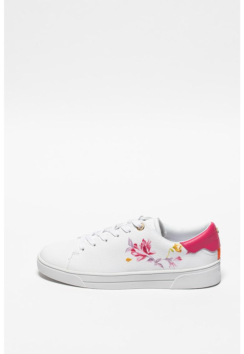 Pantofi sport de piele cu model floral Nelah imagine promotie