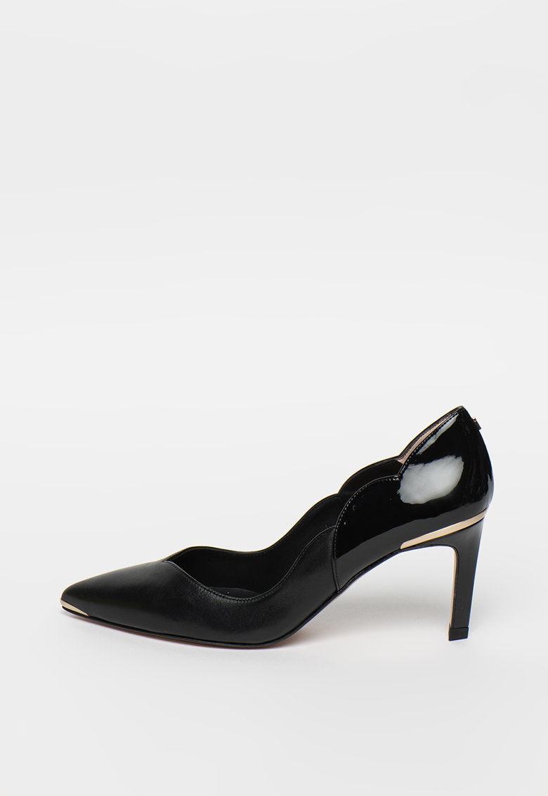 Pantofi din piele cu varf ascutit si detalii lacuite Maysiep poza fashiondays