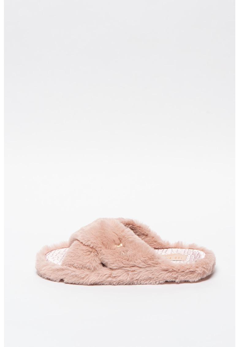 Papuci de blana sintetica Cameo imagine promotie