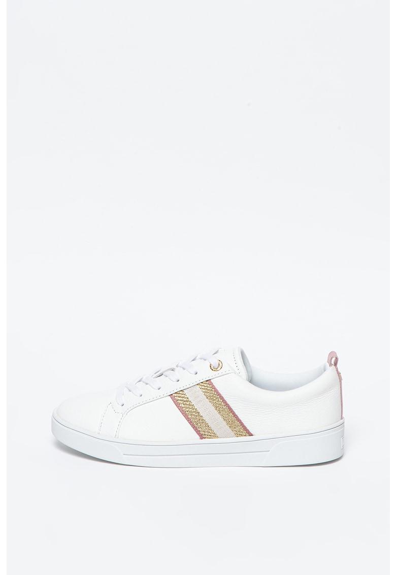 Pantofi sport de pele cu detalii stralucitoare Baily imagine promotie