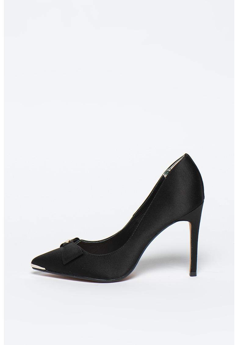 Pantofi din satin cu toc stiletto Lilana