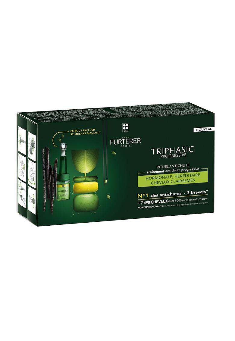 Tratament fiole  Triphasic impotriva caderii parului - 12 fiole x 5 ml de la Rene Furterer