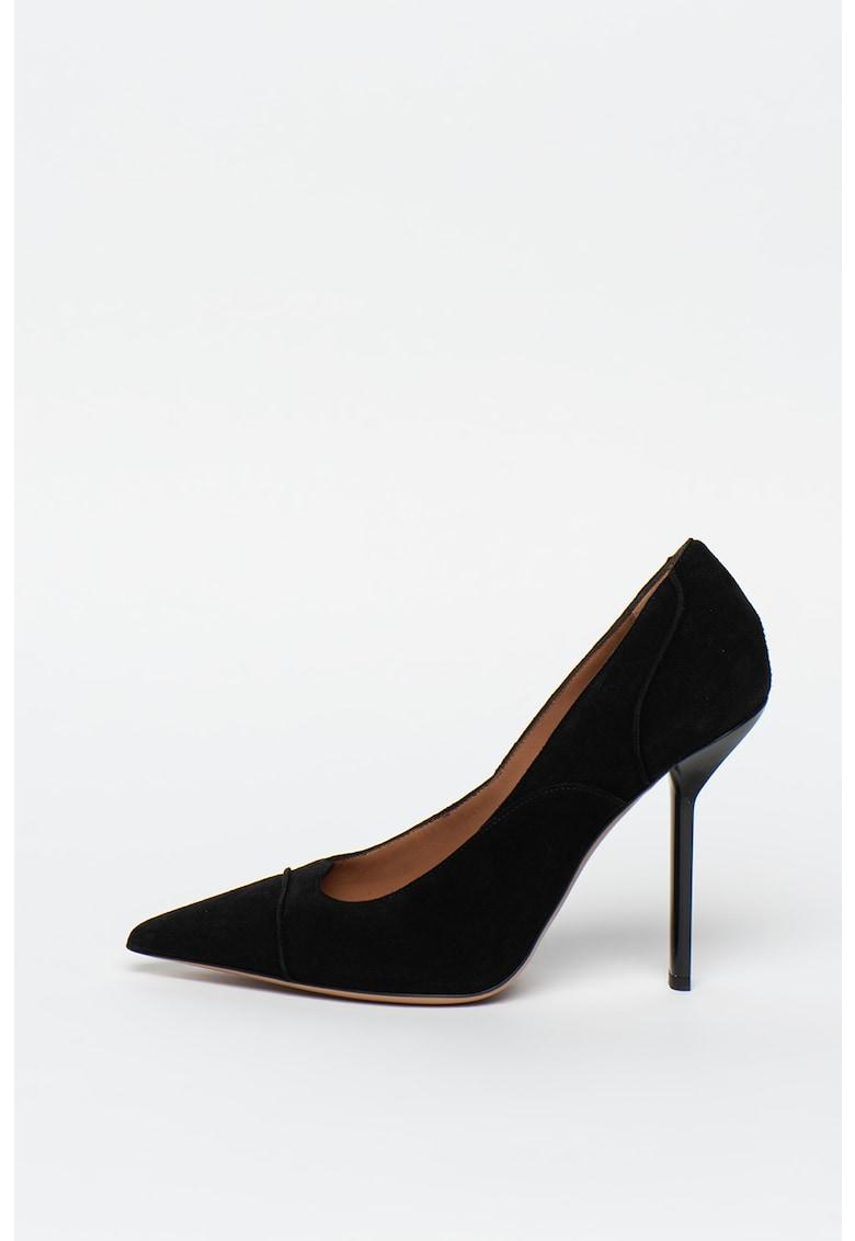 Pantofi de piele intoarsa - cu varf ascutit